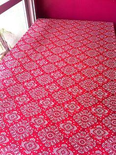 Toalha Mesa Bandana Vermelha 1,5x2m