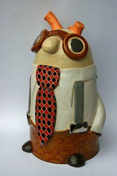 Noseman!! #ceramic #art #cartoon Clay Art, Ceramic Art, Jessie, Originals, Sculpting, Polymer Clay, Pottery, Vase, Bird