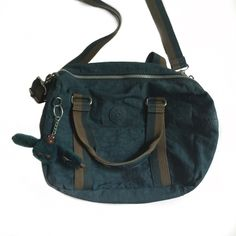 // K i p l i n g • C r o s s b o d y • B a g // Greenish blue Kipling cross-body bag. A few very small stains on the inside from normal use but it looks in great shape! Kipling Bags Crossbody Bags