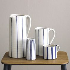 These new cups and pitchers from Sue Binns Pottery makes us think of hot cocoa and beach house coziness #onlinenow #pottery #ceramics #pitcher #cup #suebinns #stillebencopenhagen #stillebenwebshop #stillebenbutik #stillebenshop #stilleben #stillebenwebshop