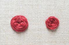 Learn how to work a woven wheel, for making beautiful flowers!
