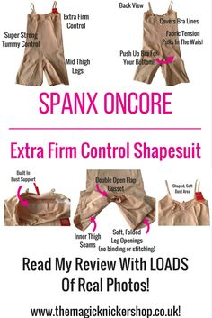6d28a32488b07 Spanx OnCore Extra Firm Control Shapesuit Shapewear Review