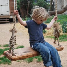 Large Tree Swing by PegandAwl on Etsy, $230.00