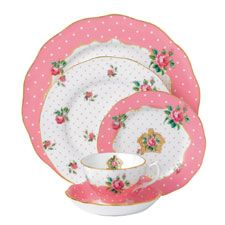 Royal Albert Cheeky Pink 5 Piece Place Setting