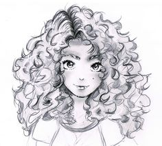 How To Draw Curly Hair To Draw Curly Hair Draw Curls Step By