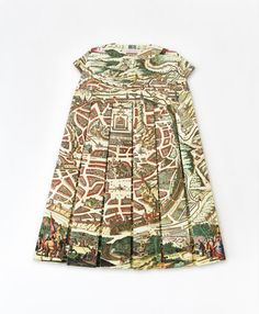 Dress made from recycled old maps by E.L.Elisabeth Lecourt, 2012