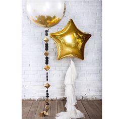 Звездопада вам на ночь💫✨💫 Самое крутое, когда шарик с конфетти звездочки лопается- сразу чудеса происходят🌟 #большиешарики #большиешары #большиешарыспб #красивыешары #стильныешары #дизайнерскиешары #толстыйангел