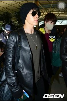 My handsome Lee Donghae. Airport fashion <3