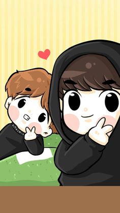 ChiBi : Photo exo Baekhuyn Chanbaek Fanart, Exo Chanbaek, Kpop Fanart, Exo Cartoon, Exo Kokobop, Baekhyun, Nct Kun, Chibi Wallpaper, Exo Couple