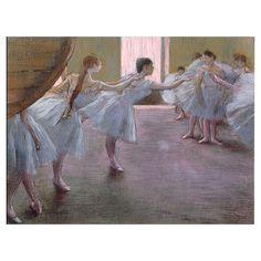 Dancer at Rehearsal by Degas Canvas Giclee Print