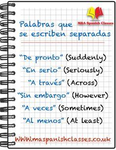 Palabras que se escriben separadas