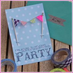 Birthday invitations http://www.johannarundel.de/tag/kindergeburtstag/