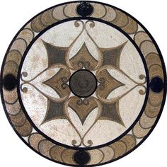 Shadows Arabesque Round Mosaic  Afya by Mozaico on Etsy