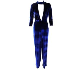 Boohoo Hannah Choker Plunge Velvet Jumpsuit | Boohoo ($35) ❤ liked on Polyvore featuring jumpsuits Velvet Jumpsuit, Personal Shopping, Boohoo, Jumpsuits, Chokers, Polyvore, Blue, Collection, Dresses