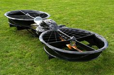 Okay, well, not exactly a car but what a ride!   Hoverbike – the Twin Rotor BMW Boxer Powered Flying Motorcycle