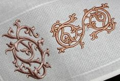 Medieval embroidery motives