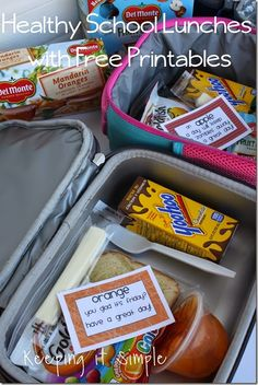 Healthy School Lunches with Del Monte and a free printable #DelMonteBTS #freeprintable #schoollunch #keepingitsimplecrafts