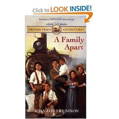 This is the first in a series of books about a fictional family of kids who are part of the Orphan Trains- that took orphaned and underprivileged children  from New York and other large cities to be adopted by families in the Western States who could give them better lives. It's a wonderful series. The pin is a pic of the first book. There are several more. All can be found here:  http://www.goodreads.com/series/42852-orphan-train-adventures