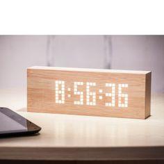 Gingko Message Click Clock - Beech: Image 1