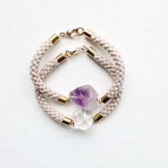 rope and gemstone bracelets
