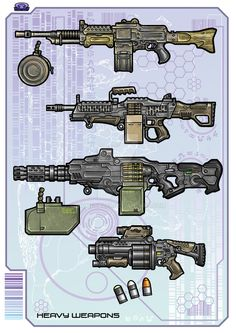 Heavy Weapons - Color by biometal79