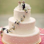 Pinwheel wedding cake