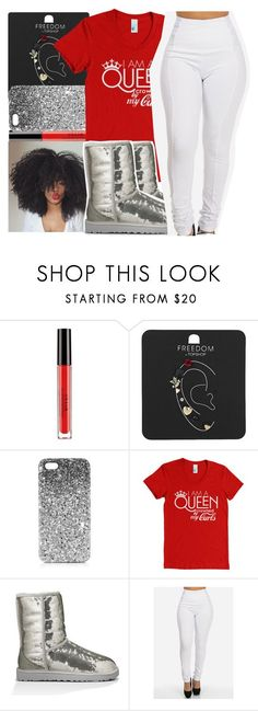 """"""""""" by missy143lol ❤ liked on Polyvore featuring Stila, Topshop and UGG Australia"""