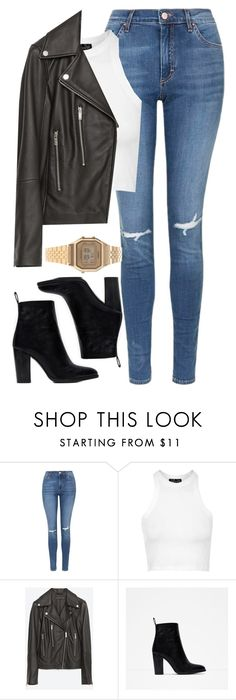 """"" by welove1 ❤ liked on Polyvore featuring Topshop, Zara, Casio, women's clothing, women, female, woman, misses and juniors"