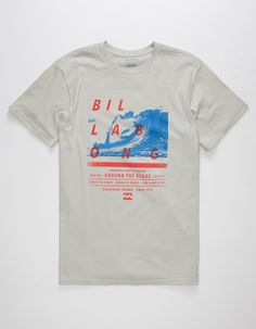BILLABONG Poster Mens T-Shirt Hang Ten, Creation T Shirt, Skate Shirts, Surf Shirt, Sperrys Men, Tee Shirt Homme, Tee Design, Apparel Design, Adidas Men