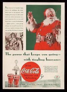 1934 Coca-Cola Santa Claus ad.