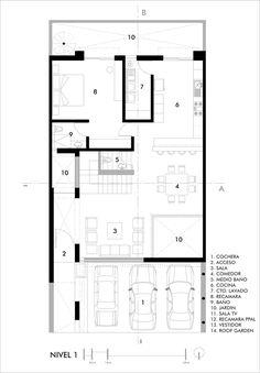 Imagen 14 de 19 de la galería de Casa CONTADERO / Canocanela Arquitectura. Floor Plan 01
