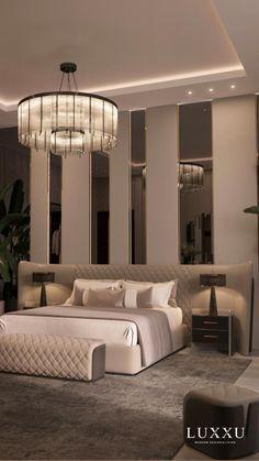 Modern Luxury Bedroom, Luxury Bedroom Design, Master Bedroom Interior, Modern Master Bedroom, Room Design Bedroom, Bedroom Furniture Design, Home Room Design, Luxurious Bedrooms, Bedroom Ideas