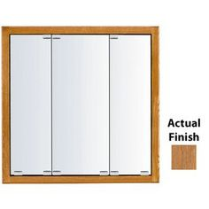 Kraftmaid Formal 36-In X 30-In Square Surface/Recessed Mirrored Wood M