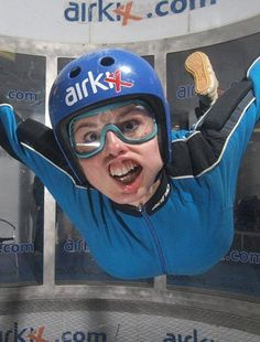 Awesome horse face from Hollie, our mate up at AirKix wind tunnel in Singapore...It's too good not to publish!