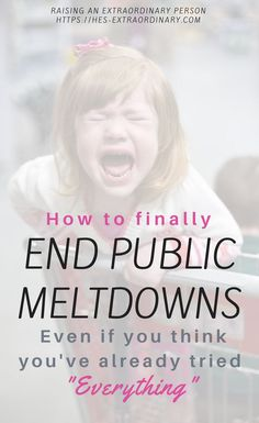 How to end public meltdowns, even if you've tried everything. If you want to successfully avoid meltdowns with your autistic child the key is having a solid plan you both understand. Download this free guide. #AutismParenting #Autism #AutisticParentingTips