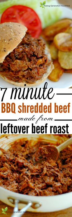 Minute BBQ Shredded Beef Made From Leftover Beef Roast :: Turn those ...