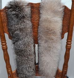BY ORDER Rare Luxury BLUEFROST Fox Fur Trim Hood, Fur collar trim, Silver Fox Fur Collar, Fur Scarf, Fur Ruff, Fox Fur Hood, Bluefrost Fur