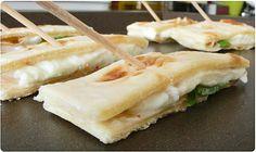 Quesadillas à la mozzarella et basilic
