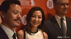 On the red carpet of the Singapore International Film Festival - SGIFF, Michelle Yeoh 楊紫瓊 says she's a big fan of Star Trek but declines to reveal details on her role in the new series.  (Video: Genevieve Loh)
