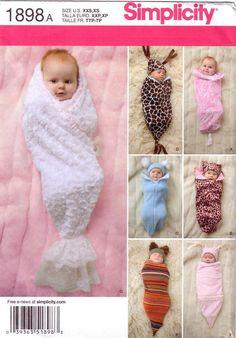 Simplicity 1898 Babies Swaddling Sacks Sewing Pattern, Size A (XXS-XS). $6.00, via Etsy.