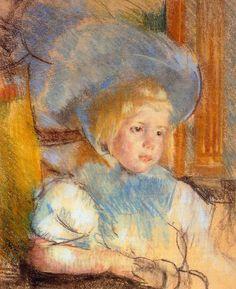Mary Cassatt- Simone in plumed hat
