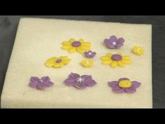 Marzipan flowers from cookie cutters or plunger cutters
