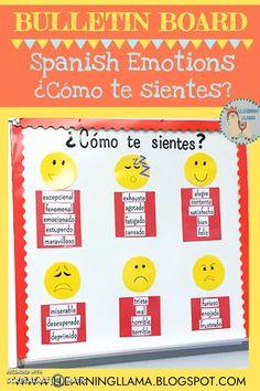 Spanish Bulletin Board Como te sientes