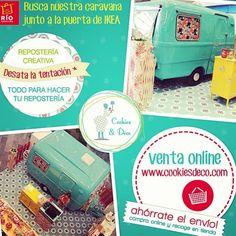 Busca la Caravana de Cookies & Deco en el Centro Comercial Rio Shopping, Valladolid. #reposteriacreativa #roulotte