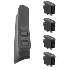 A-Pillar 4 Switch Pod Kit, Black; 11-16 Jeep Wrangler JK, RHD - Crawltech…