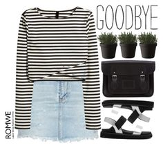 """no Goodbyes"" by mihreta-m ❤ liked on Polyvore featuring Yves Saint Laurent, The Cambridge Satchel Company and Muuto"