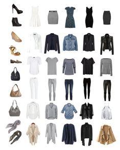 """The Ultimate Parisian Minimalist Capsule Wardrobe"" by elle-verlaque on… Minimal Wardrobe, New Wardrobe, Travel Wardrobe, French Wardrobe Basics, French Minimalist Wardrobe, Parisian Wardrobe, French Capsule Wardrobe, Minimalist Closet, Simple Wardrobe"
