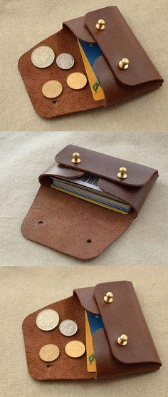 Tarjetero / Origami de la moneda y carpeta de la tarjeta /