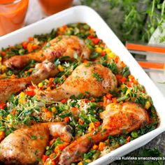 Pałki kurczaka zapiekane z ryżem i warzywami Nutrition Meal Plan, Healthy Diet Plans, Healthy Eating, Healthy Recipes, Clean Eating Meal Plan, Clean Eating Recipes, Tandoori Chicken, Whole Food Recipes, Meal Planning
