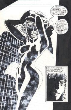 "Sin City - ""Hell & Back"" - illustrated by Frank Miller Comic Book Girl, Comic Book Artists, Comic Artist, Comic Books Art, Artist Art, Frank Miller Art, Bd Art, Jordi Bernet, Graphic Novel Art"